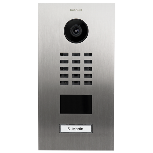 DoorBird D210xV 1-3 Buttons IP Intercom HD Video Flush Mount Door Station (Metal Finish)