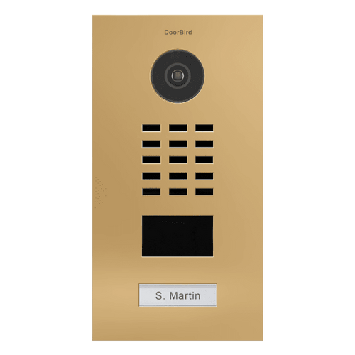 DoorBird D210xV 1-3 Buttons IP Intercom HD Video Flush Mount Door Station (Semi Gloss)