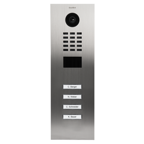 DoorBird D210xV 4-18 Buttons IP Intercom HD Video Flush Mount Door Station (Metal Finish)