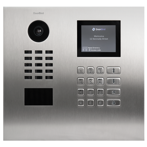 DoorBird D21DKH IP Intercom HD Video Flush Mount Door Station with Keypad & Display