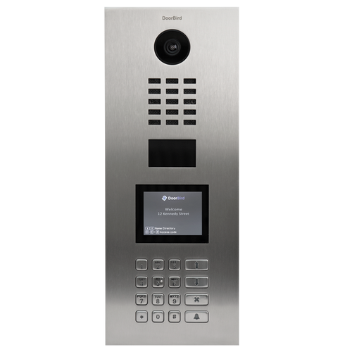 DoorBird D21DKV IP Intercom HD Video Flush Mount Door Station with Keypad & Display