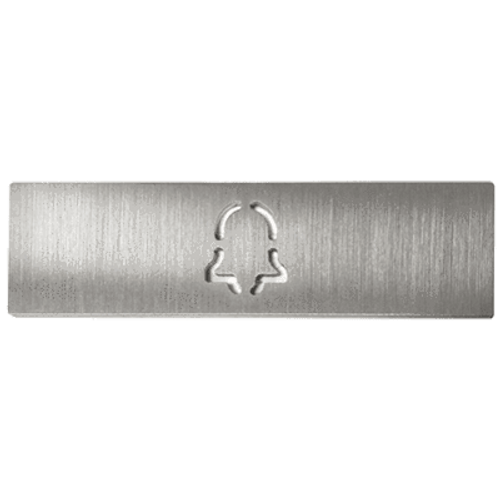 DoorBird Bell Call Metal Finish Button Label for D21x Video Door Station