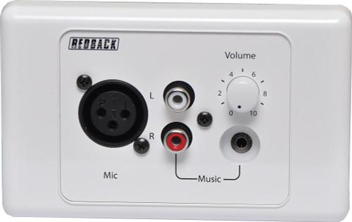 Redback Mic / Line Pre Amplifier Wallplate
