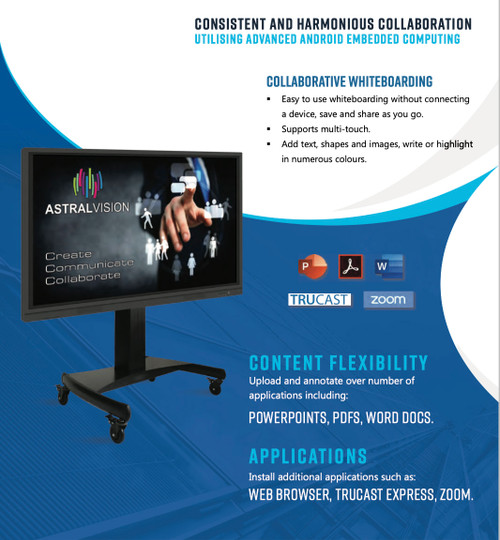 "AstralVision AVSA Pro 4K UHD 20-Point Interactive LED Displays (65"", 75"", 86"")"