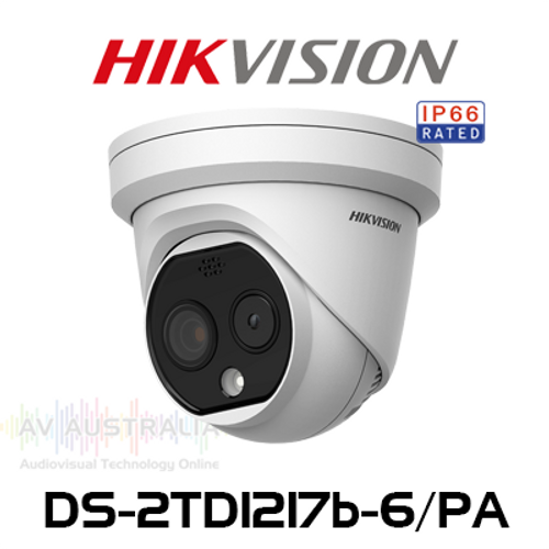 Hikvision DS-2TD1217b-6/PA Temperature Screening Thermographic Turret Camera