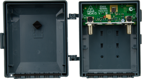 Kingray MDA15U UHF F-Type Masthead Distribution Amplifier