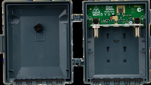 Kingray MDA15W VHF/UHF F-Type Masthead Distribution Amplifier