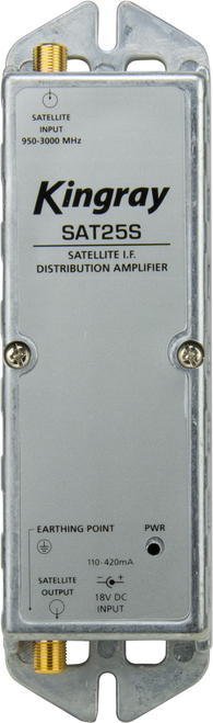 Kingray SAT25S F Type Satellite Distribution Amplifier (950-2400MHz)