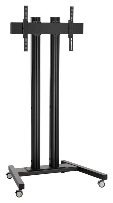 """Vogels TDxx84 800x400 Fitment Double Pole Mobile Trolley (65"""" plus)"""