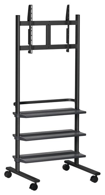 """Vogels PB175 36-55"""" Display Trolley with 3 Shelves (up to 50kg)"""