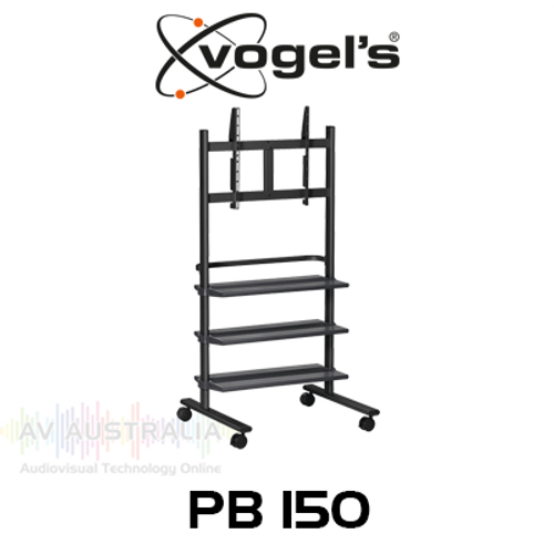 "Vogels PB150 36-55"" Display Trolley with 3 Shelves (up to 50kg)"