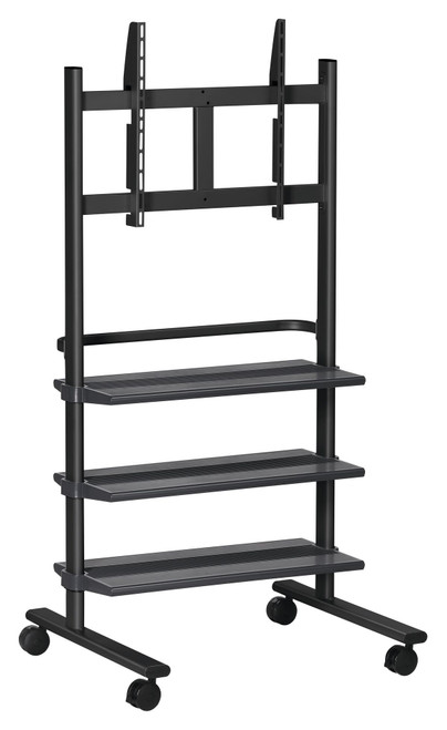 """Vogels PB150 36-55"""" Display Trolley with 3 Shelves (up to 50kg)"""