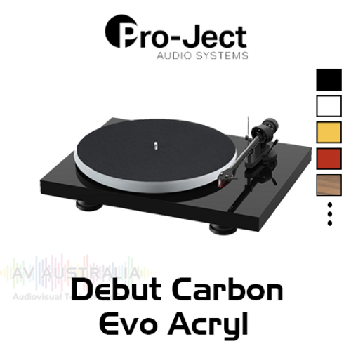 Pro-Ject Debut Carbon Evo Acryl Turntable Inc. Ortofon 2M Red Cartridge