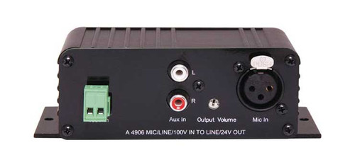Redback Mic / Line / 100V Input to Line+24V Switched Output