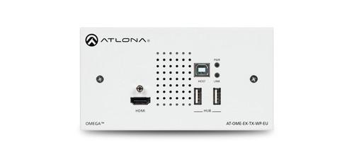 Atlona Omega 2-Gang HDMI & USB to HDBaseT Transmitter Wallplate (Up to 100m)