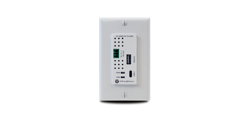 Atlona HDBaseT Transmitter Wallplate with USB-C Input & Data