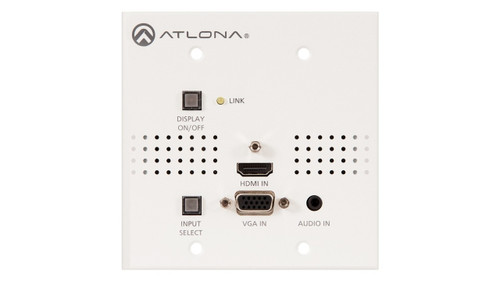 Atlona HDMI and VGA to HDBaseT Switcher Transmitter Wallplate Extender Kit (Up to 70m)