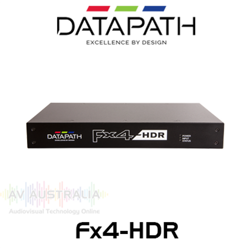 Datapath FX4-HDR 4K HDR Display Wall Controller with HDCP & Loop Through