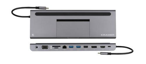 Kramer KDock-4 USB-C Hub Multiport Adapter (HDMI / DP / VGA / USB 3.0 & 2.0 / Ethernet / USB-C / SD / MicroSD)