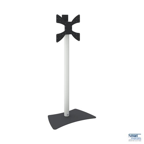"SmartMetals Manual Height Adjust Flat Panel Floor Stand (Max 55"" / 30kg)"