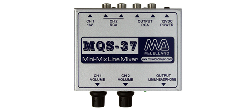 McLelland MQS-37 2 Channel Stereo Line Level Passive Mixer