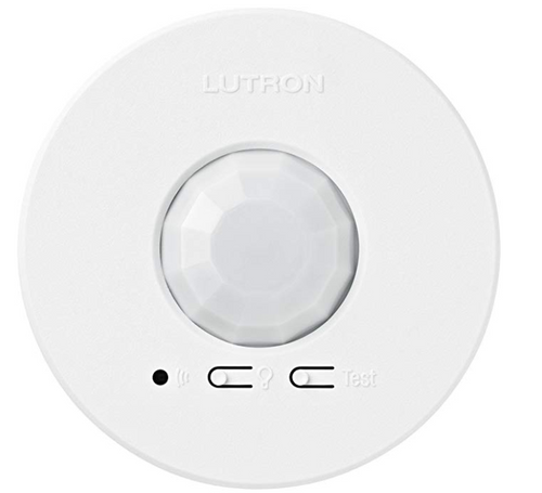 Lutron 360-degree FOV Ceiling Mount Battery-Powered Wireless PIR Sensor