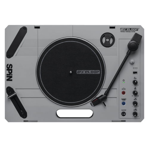 Reloop Spin Portable DJ Turntable with Built-In USB recorder & Speaker
