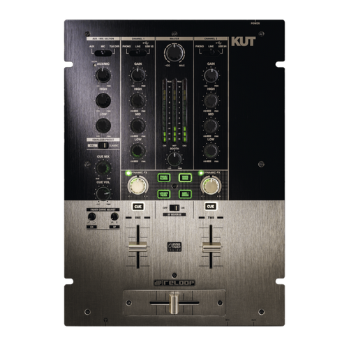 Reloop KUT 2-Channel Battle DJ Mixer with 8 in/6 Out USB Audio Interface