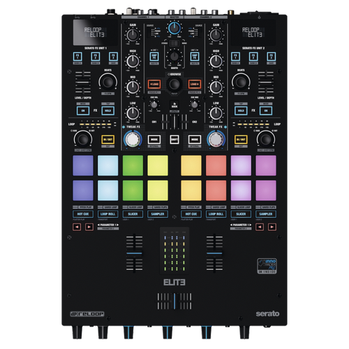 Reloop ELITE 2-Ch High Performance DVS Battle DJ Mixer for Serato