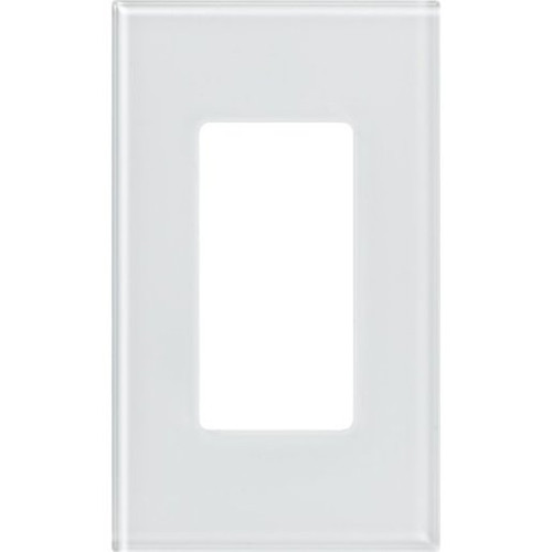 Lutron Pico 1/2/3 Openings Clear White Designer Glass Wallplates