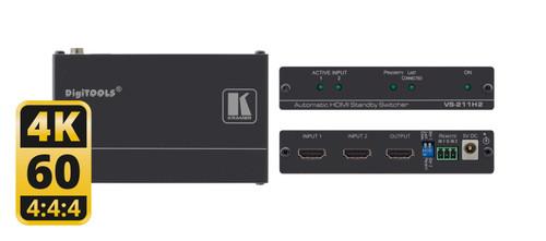 Kramer VS-211H2 2x1 4K60 HDR 4:4:4 HDMI Auto Switcher