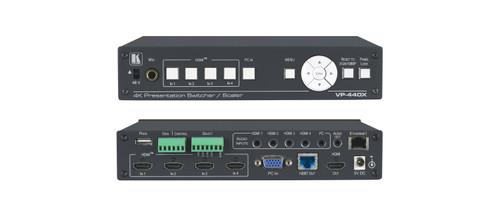 Kramer VP-440X 4x 4K HDMI 1x VGA Presentation Switcher / Scaler with HDBaseT & HDMI Outputs