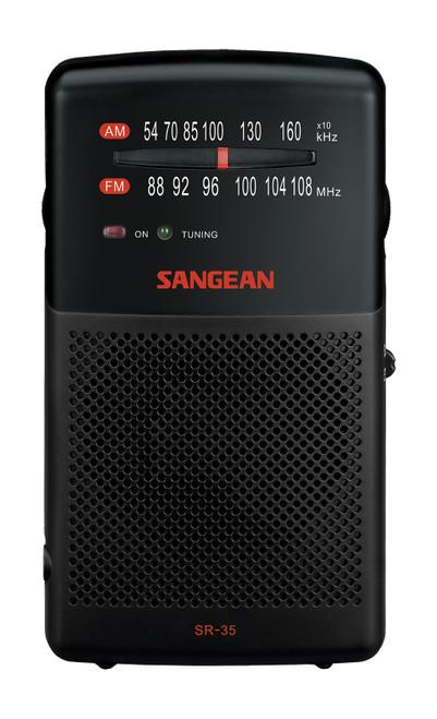 Sangean SR-35 FM/AM Pocket Radio with Built-In Speaker