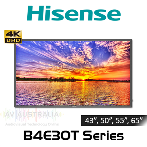 "Hisense B4E30T Series 4K 400 Nits 16/7 Android Commercial Displays (43"", 50"", 55"", 65"")"