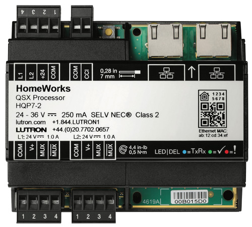 Lutron Single/Dual Link HomeWorks QSX Processor