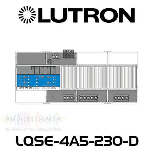 Lutron Pro LED+ 4-Zone Phase Adaptive DIN Power Module For Dimming Control