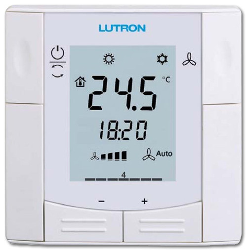 Lutron Room Thermostat For FCU And Heating Applications