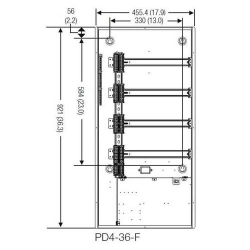 Lutron Panel & Enclosure For DIN Rail Modules