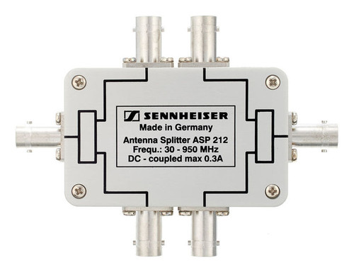 Sennheiser ASP212 Dual 2-Way Passive Antenna Splitter
