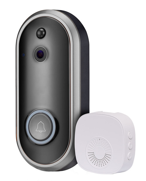 Smart Life Wi-Fi Video Doorbell with Ringer Unit