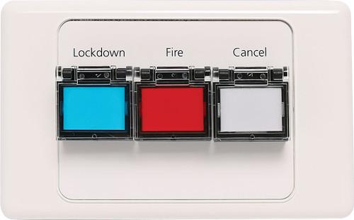 Redback Lockdown / Fire / Cancel Remote Wallplate