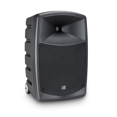 """LD Systems RoadBuddy 10 Basic 10"""" Battery Powered Bluetooth Speaker with Mixer"""