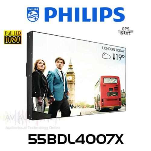 "Philips X-Line 55"" Full HD 700 Nits 1.8mm Bezel-to-Bezel 24/7 Video Wall"