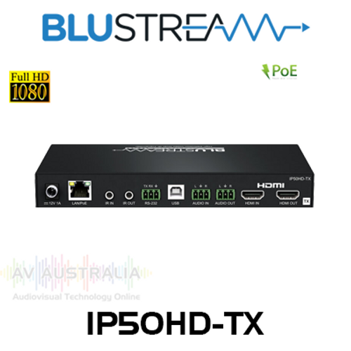 BluStream Contractor IP50HD-TX 1080P Multicast Video Transmitter Over IP (100m)
