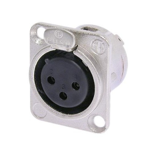 Neutrik DL Series 3 Pin XLR Panel Socket - Female