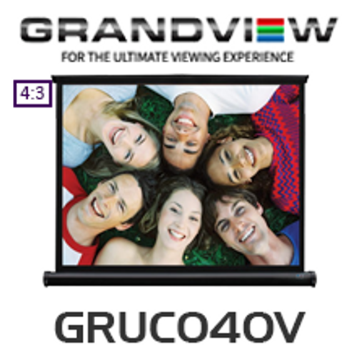 "Grandview 40"" Micro Pull Up Portable Screen"