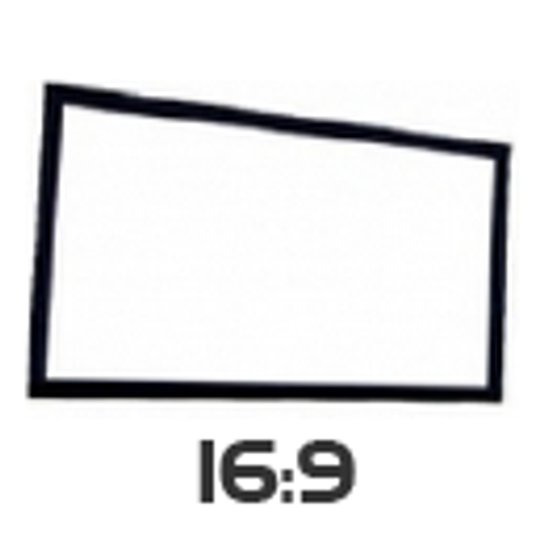 Optekneik 16:9 Fixed Frame Projector Screen