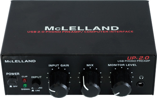 McLelland UP2 Phono Preamp with USB
