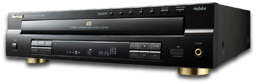 Sherwood CDC-5506 5 Disc Carousel CD Player with Front Panel USB Input
