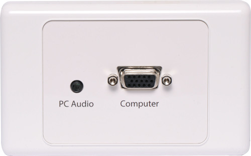 VGA with 3.5mm Audio Wallplate
